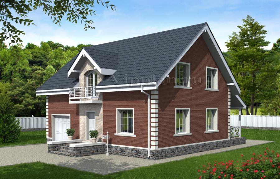 Дом с жилой мансардой с фото