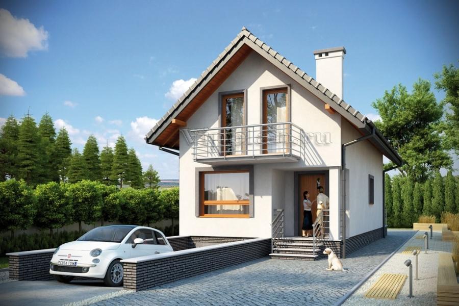 Проект узкого дома с гаражом и подвалом V894 в Омске